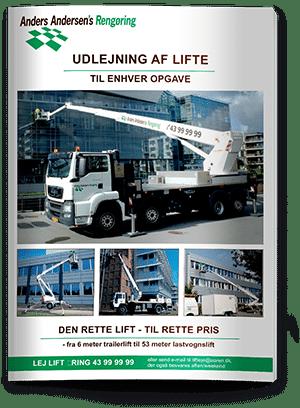 Anders Andersen Rengøring Liftudlejningsbrochure