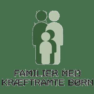 Familier med kraftramte børn Logo sponsorate