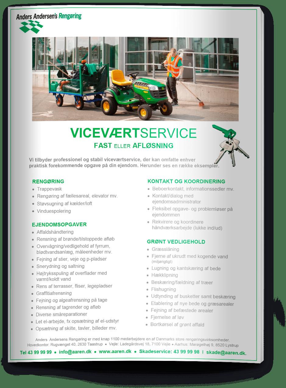 Vicevært service brochure